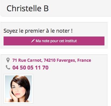 Christelle B - Faverges